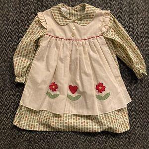 Vintage single stitch prairie dress size 3T